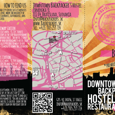 Letak - Downtown Backpacker's Hostel&Restaurant Br